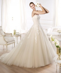 W508-Sweetheat-Puffy-Skirt-Lace-Applique-Top-font-b-Wedding-b-font-font-b-Dress-b
